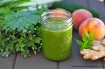 Peach+Ginger+Mint+Green+Smoothie